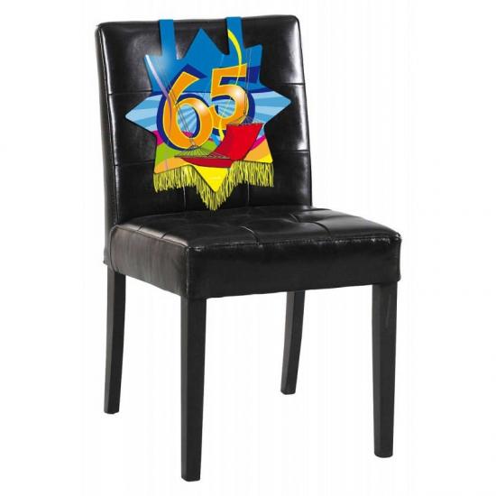 Feest versiering stoel 65 jaar