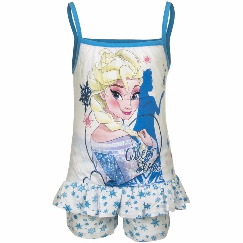 ca9b335f957 Frozen korte pyjama wit/blauw voor meisjes in oranje artikelen ...