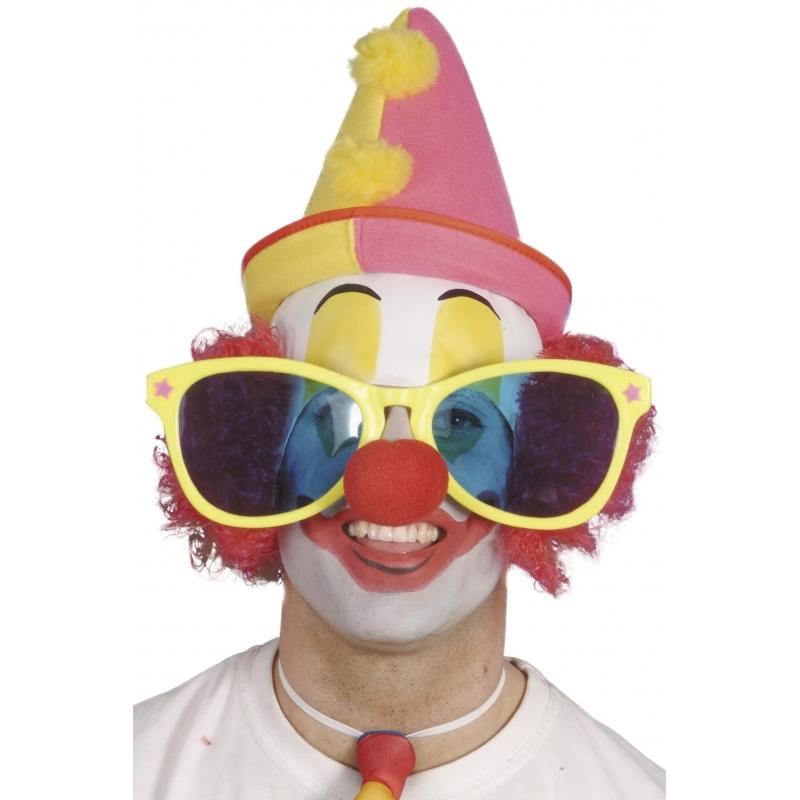 Grote clownsbril voor volwassenen