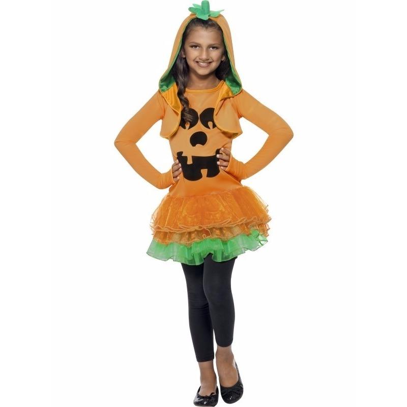 Halloween Straatversiering.Halloween Pompoen Kostuum Voor Meisjes In Oranje Artikelen