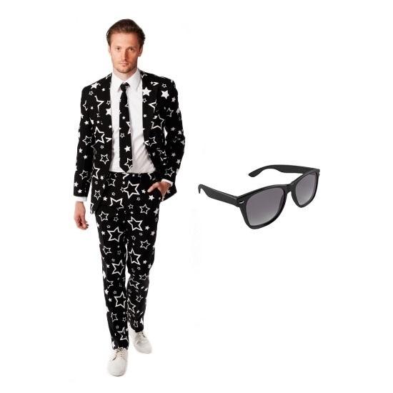 58fe3889a41 Heren kostuum met sterren print maat 50 (L) met gratis zonnebril in ...