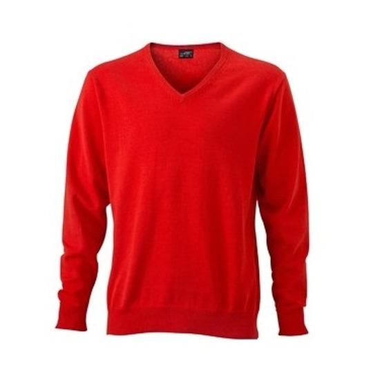 Holland heren sweater v-hals van katoen met lange mouwen