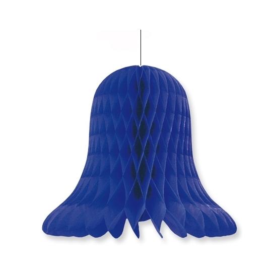Huwelijk klok decoratie blauw 30 cm