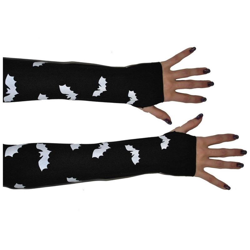 zwarte kanten vingerloze handschoenen