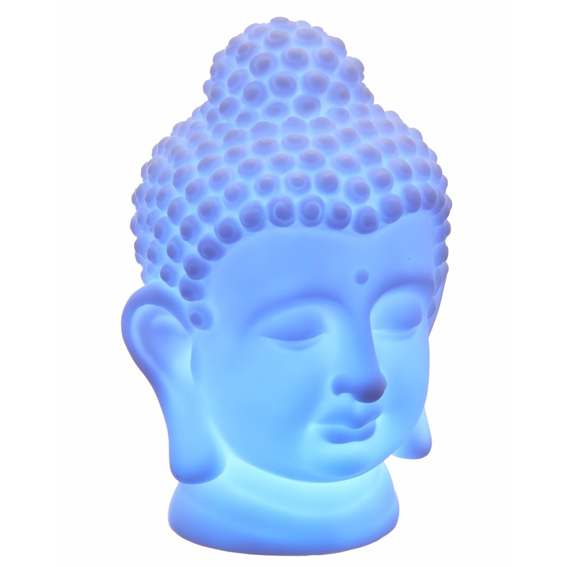 Boeddha Met Led Verlichting.Boeddhe Artikelen Tafel Lamp 18 Cm In Oranje Artikelen Winkel