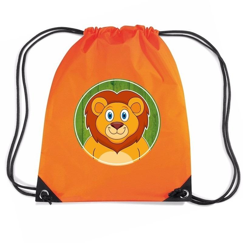 9d2577cf3cb12f Leeuwen rugtas / gymtas oranje voor kinderen in oranje artikelen ...
