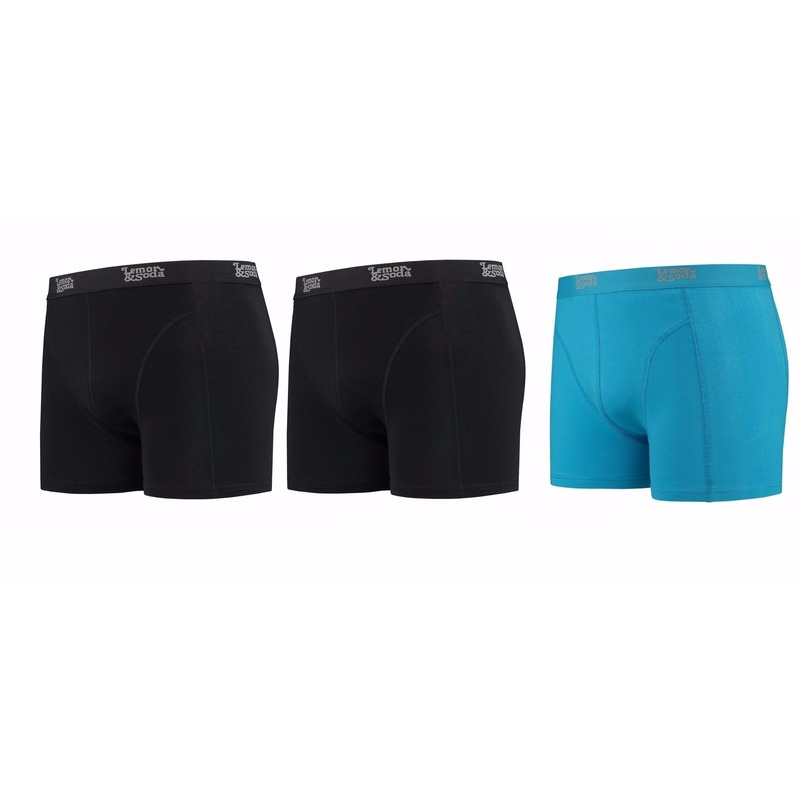 699b9b3a923 Lemon and Soda boxershorts 3-pak zwart en blauw S in oranje ...