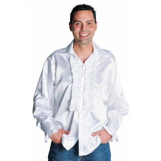Feestelijk Overhemd.Wit Feestelijk Overhemd Met Rouches In Oranje Artikelen Winkel