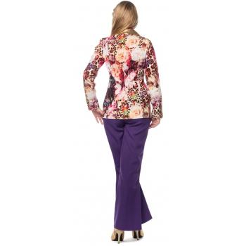 04fdcaa9ad10aa Paarse verkleed broeken wijd uitlopend voor dames in oranje ...