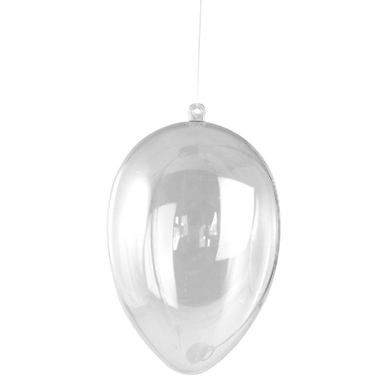 Paasdecoratie plastic ei hanger 6 cm