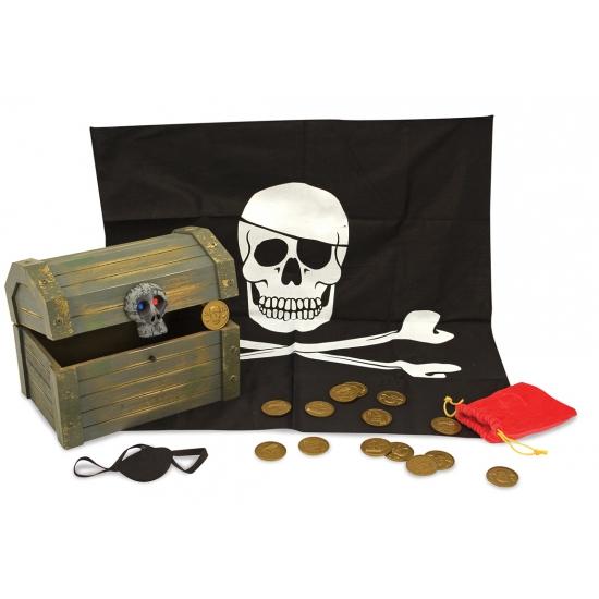 Piraten schatkist met vulling