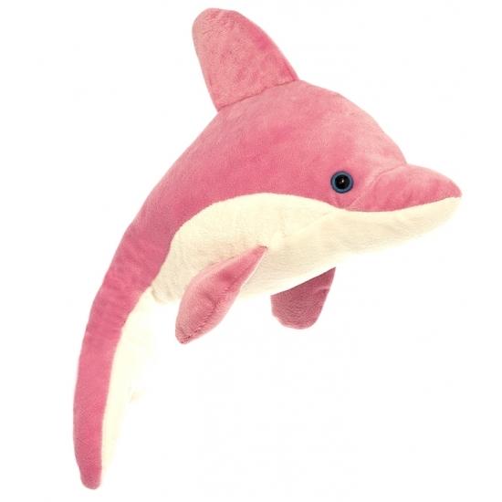 34328f5c83e808 Pluche dolfijn knuffel roze/wit 23 cm in oranje artikelen winkel ...