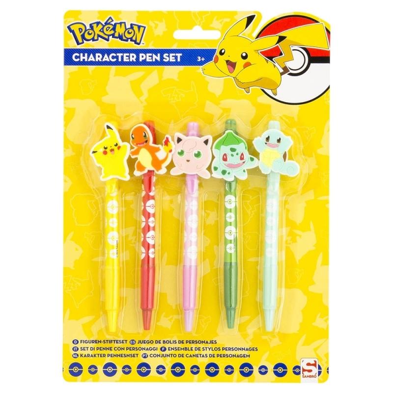 Pokemon pennen setje 5 stuks