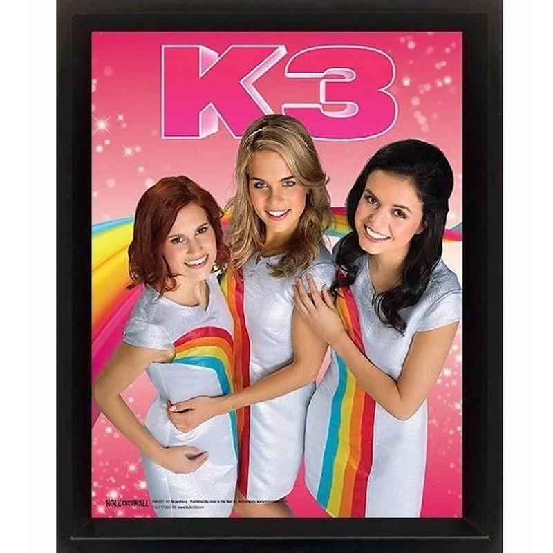 Foto van Poster K3 Regenboog 23 x 28 x 5 cm