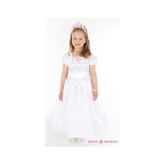 Prinsessenjurkje wit voor meisjes