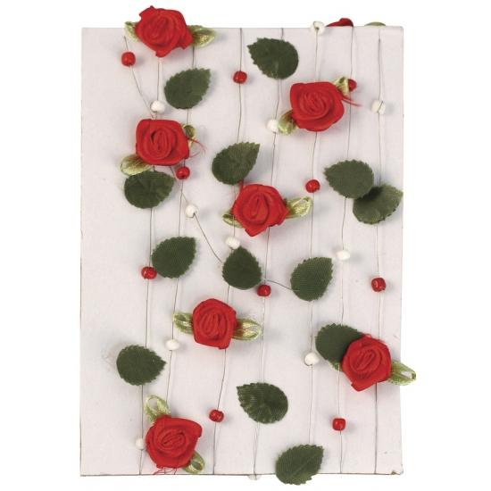 Roosjes decoratie slinger 2 meter