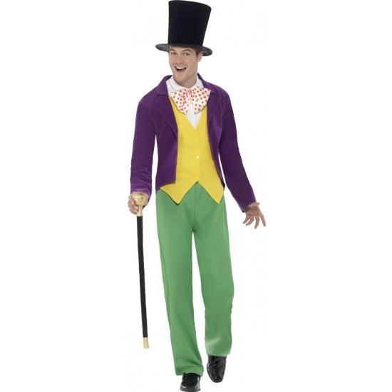 Verkleedkleding Roald Dahl Willy Wonka kostuum