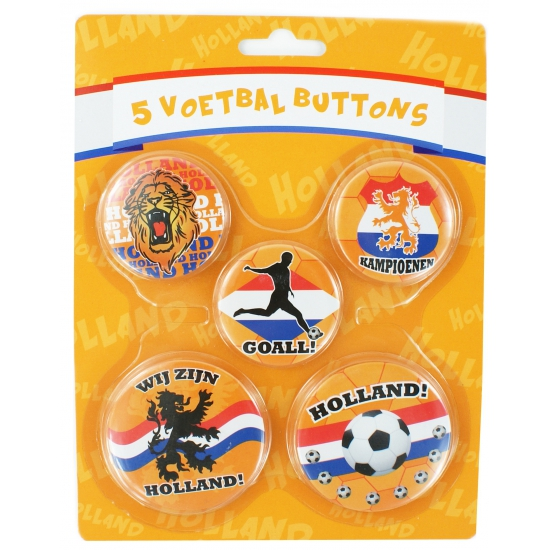 Voetbal buttons Hup Holland