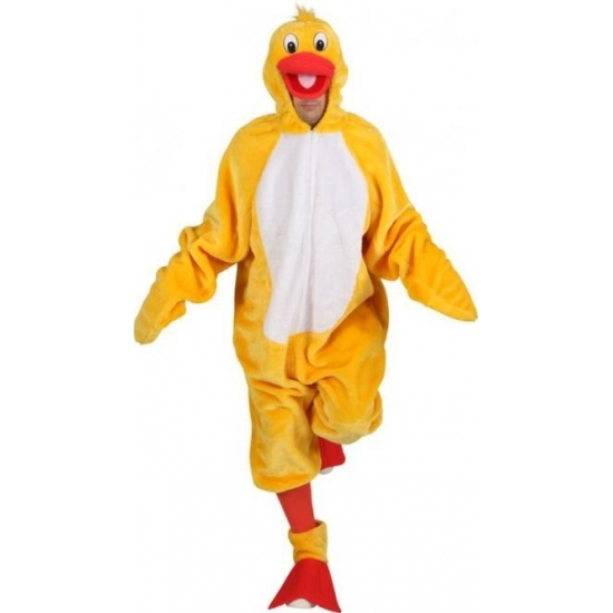 Vogel kostuum gele eend