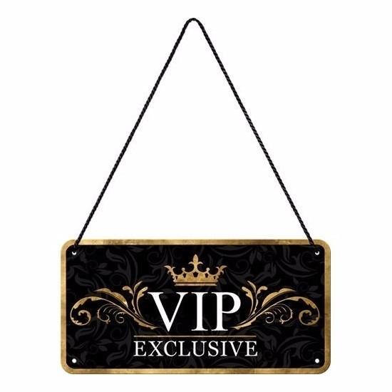 Zwart ophangbordje VIP
