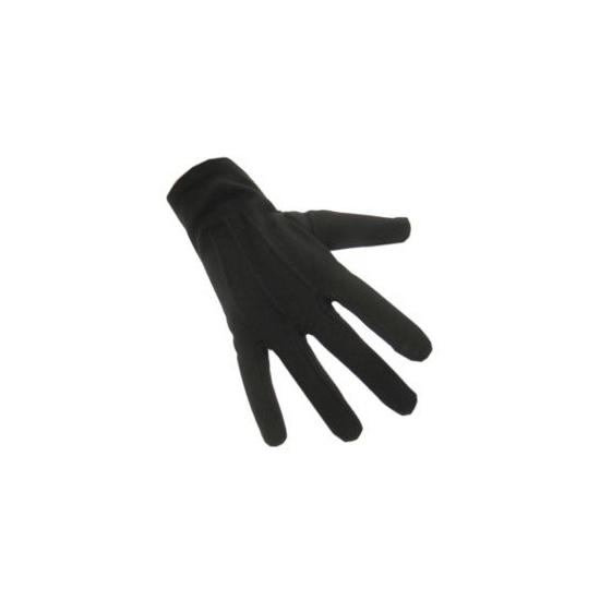 Zwarte korte party handschoenen