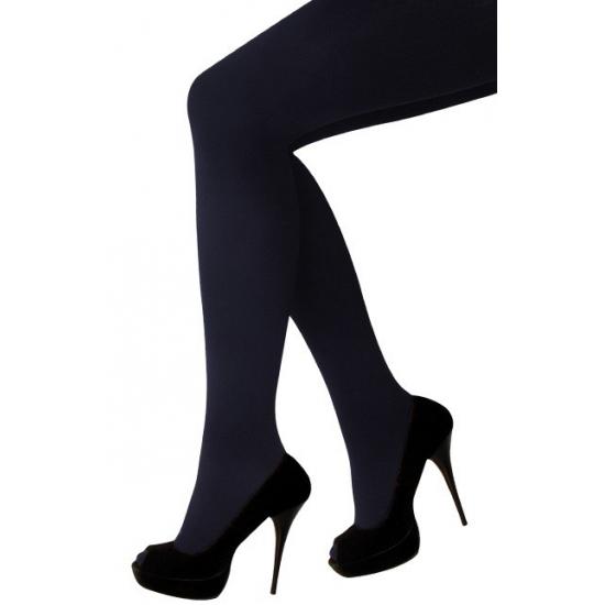 Zwarte panty met gulp voor dames