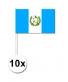 Papieren zwaaivlaggetjes Guatemala 10x