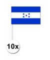 Papieren zwaaivlaggetjes Honduras 10x