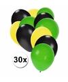Feest ballonnen in de kleuren van Jamaica 30x
