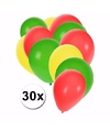 Feest ballonnen in de kleuren van Kameroen 30x