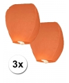 3x oranje wensballon