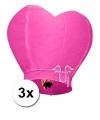 Roze wensballonnen 100 cm 3 stuks