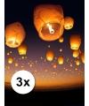 3 Chinese wensballonnen wit pakket