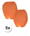 5x oranje wensballon