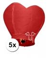 Rode wensballonnen 100 cm 5 stuks