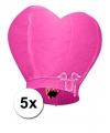Roze wensballonnen 100 cm 5 stuks