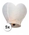 Witte wensballonnen 100 cm 5 stuks