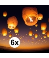 6 x Chinese wensballon wit 50 x 100 cm