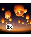 8 x Chinese wensballon wit 50 x 100 cm