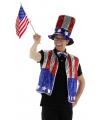 USA carnavalskleding 3 delige set