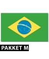 Brazilie feestartikelen pakket