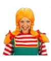 Dames pruik oranje sterk Zweeds meisje