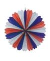 Decoratie waaier Frankrijk 60 cm