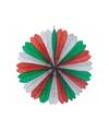 Rood/wit/groen hangdecoratie 60 cm