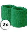 Groene zweetbandjes pols