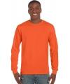 Oranje Koningsdag shirt met lange mouw heren