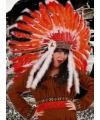 Indiaan hoofdtooien rood/oranje