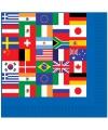 Wereld wegwerp servetten 16 stuks