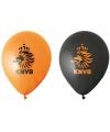 Acht KNVB ballonnen oranje en zwart
