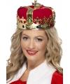 Rode koninklijke kroon